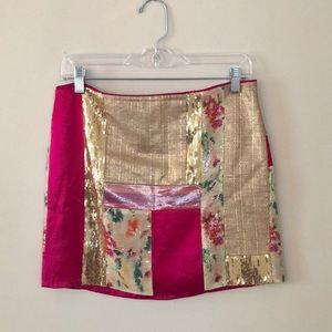 Diane Von Furstenberg Patchini Mini Skirt